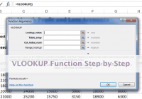The VLOOKUP function step-by-step