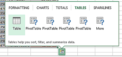 Using a Pivot Table in Excel 2013