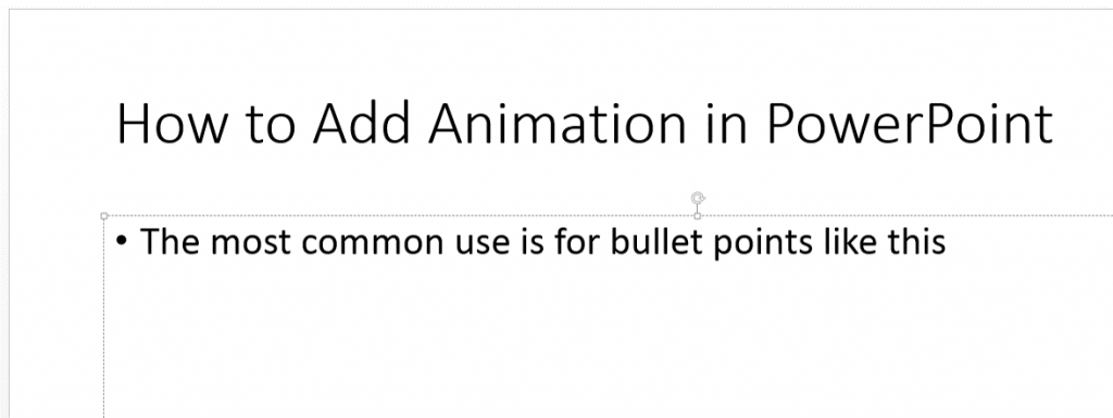 Add Animation in PowerPoint