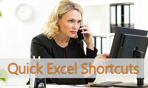 Quick Excel Shortcuts
